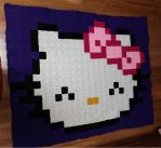 Hello Kitty Blanket by DeadNeonFlies