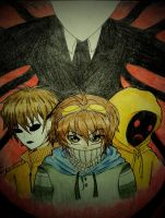 The Proxies [Masky, Hoodie, Ticci Toby and Slendy] by Six-0-6