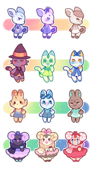 animal crossing critters- reduced price  [5/12] by Peach-n-Creme