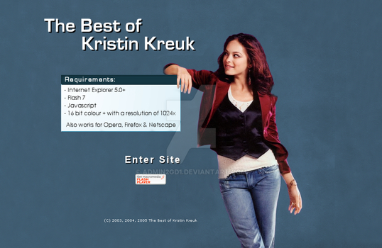Kristin Kreuk Welcome Page by admin2gd1