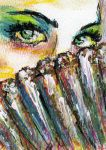 Peacock Masquerade ATC by ArtSnarks-Artifacts