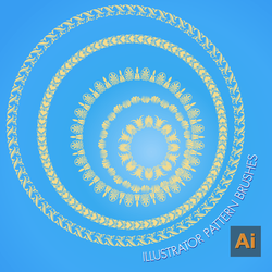 Adobe iLLustrator Pattern Brushes by flashtuchka