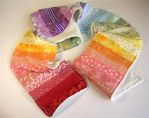 Rainbow patchwork scarf by restlesswillow