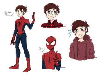 Spider-Man/Peter Parker Doodles by DragonChaser195