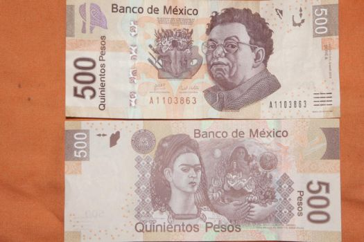 billete  $500 M.N. de Mexico by Cyrux