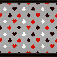 Playing Card Motif (Grey) by Rosemoji