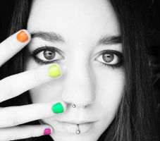 Rainbow Nails by immerseyoursoul-x