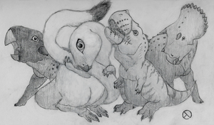 A Bunch of Baby Dinosaurs by SaurArch