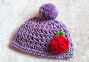 Childs Rose Hat by freespirit115