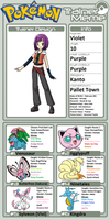 Trainer Profile: Violet (Bel-TheSweet-Sylveon) by WillDynamo55