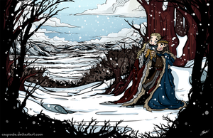 Hobbit - Winter in Mirkwood Barduil Secret Santa by caycowa