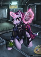 Fallout Equestria: Gin Rummy by Pinkuh