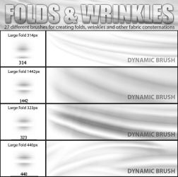 FOlds and Wrinkles Photoshop CS4 brushSAMPLE by suztv