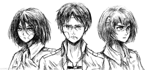 Attack on Titan Trio by Lu-cho
