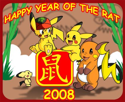 Happy Year of the Rat by Coshi-Dragonite