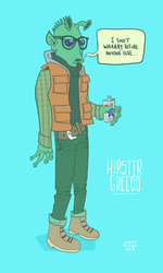 Hipster Greedo by mattwileyart