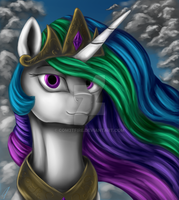 Princess Celestia Portrait by CometFire1990