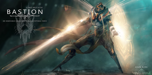 Bastion: Warframe Fan Art by AdamBurn