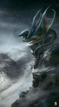 Mountain Dragon by Mikeypetrov