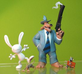 Sam and Max Freelance Police figures by TrevorGrove