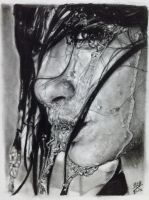 Charcoal pencil portrait by chaseroflight
