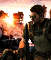 Fighting for better future! (Chris Redfield) by YegiHCH26