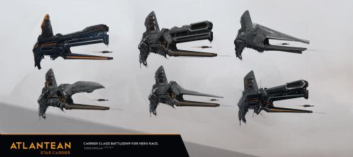 Concept Ship Thumbnails by zeedurrani
