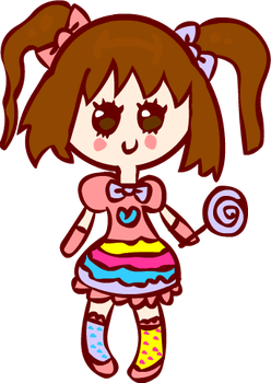 Kawaii Candy Kei Chibi by Faery-Rainbow