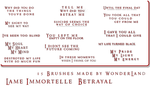 L'ame Immortelle - Betrayal by Foxxie-Chan