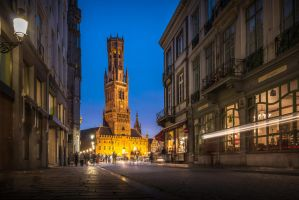Belfry of Bruges by manurs
