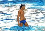 *Man in the Sea -3* by Denish-C