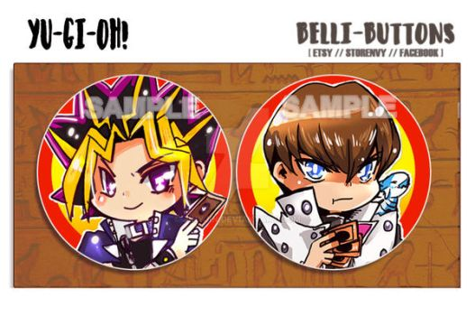 Yu Gi Oh button set by jinyjin