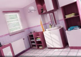 purple bathroom for my friend by pitposum