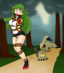 Commission: Ace Trainer Jade and Mimikyu by GagManZX
