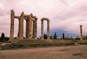 Temple Of Olimpian Zeus in Athens (Greece). by dmateoscontact