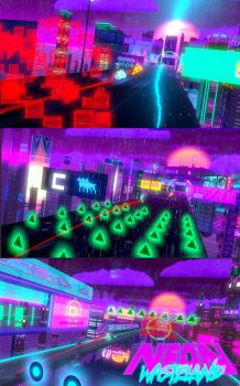 Neon Wasteland 3D Screen Shots by RobShields