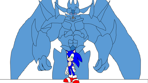 Sonic and Obelisk the tormentor by Amazingangus76