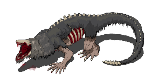 SCP 682 : Hard to destroy reptile. by dewery2539