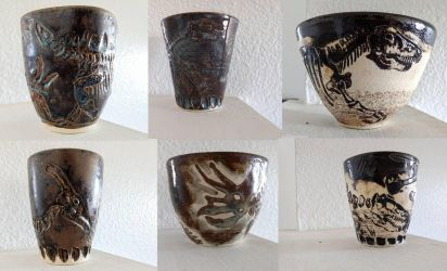 Dinosaur Fossil Pottery by Kway100