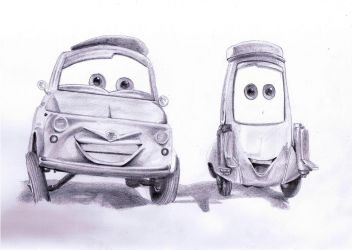 Luigi and Guido Cars by envoysoldier