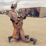 Golden nudes at burning man, 2 by TheMaleNudeStock