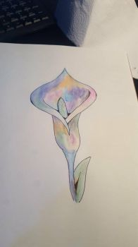 Watercolor lily by xalkalinex