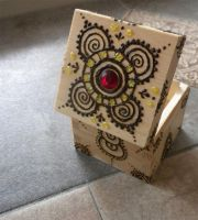 Red Gem Henna Box Finished by flowerwills