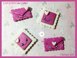 Valentines Day Stamps and Love Letters by LadySashaviv