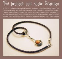 Snake and Yew pendant by Illahie