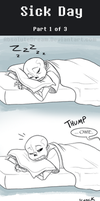 UT Comic: Sick Day Part1 by AbsoluteDream