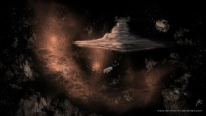 The Asteroid Field by DarthTemoc