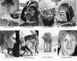 Topps Sketch Cards Group 6 by khinson