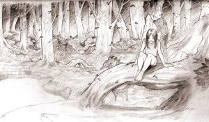 Sketch-forest by Lelia