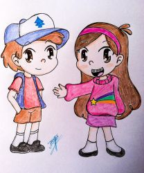 Dipper and Mabel Pines by JTrexe